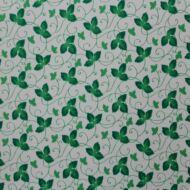 Zöld leveles fehér alapon öntapadós tapéta