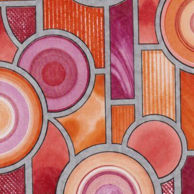 Ólomüveg színes körös öntapadós üvegtapéta – 67,5 cm