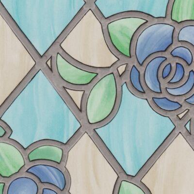 Amiens Blue színes öntapadós üvegtapéta