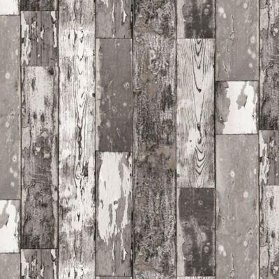 Sötét kopott deszka öntapadós tapéta