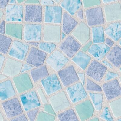 Kék mozaik öntapadós tapéta
