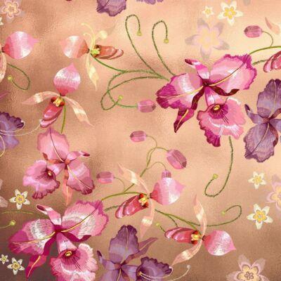 PINK ORCHID NICKEL LUXURY METALLICS fémhatású öntapadós tapéta