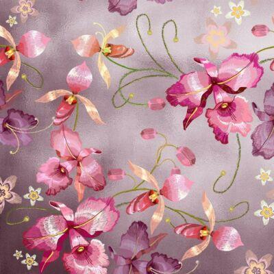PINK ORCHID ROSE GOLD LUXURY METALLICS fémhatású öntapadós tapéta