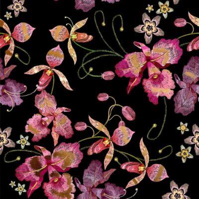 PINK ORCHID BLACK GOLD LUXURY METALLICS fémhatású öntapadós tapéta