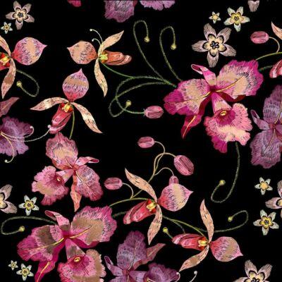 PINK ORCHID BLACK NICKEL LUXURY METALLICS fémhatású öntapadós tapéta