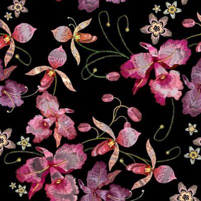 PINK ORCHID BLACK ROSE GOLD LUXURY METALLICS fémhatású öntapadós tapéta