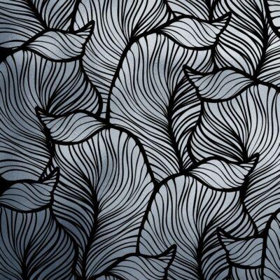 BAANA LEAVES POSITIVE ALUMÍNIUM LUXURY METALLICS fémhatású öntapadós tapéta