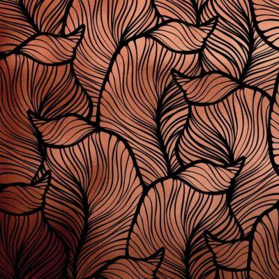 BAANA LEAVES POSITIVE RÉZ LUXURY METALLICS fémhatású öntapadós tapéta