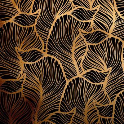BAANA LEAVES NEGATIVE GOLD LUXURY METALLICS fémhatású öntapadós tapéta
