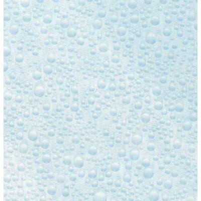 Kék vízcseppek sztatikus üvegfólia