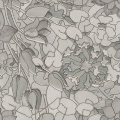 Szürke tulipánok sztatikus üvegfólia
