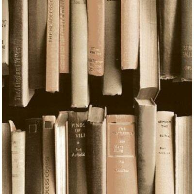 Book stack vintage öntapadós tapéta