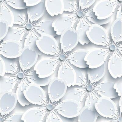 WHITE FLOWERS öntapadós tapéta
