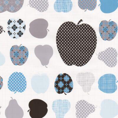 Kék almák és körték öntapadós tapéta