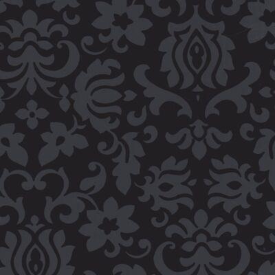 Classic Ornament fekete öntapadós fólia