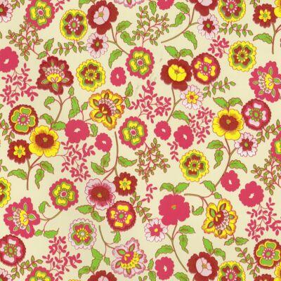 Színes virágos öntapadós tapéta