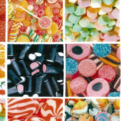 Cukorkák öntapadós fólia