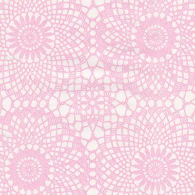 Rózsaszín csipke öntapadós tapéta