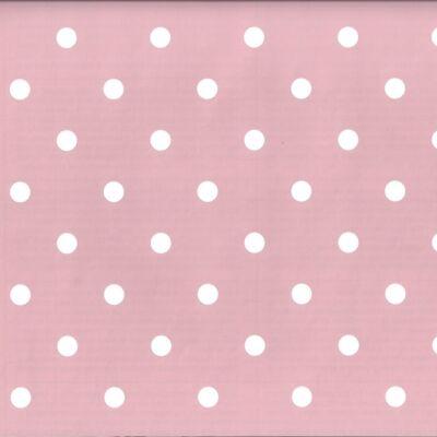 Rózsaszín vintage pöttyös öntapadós tapéta