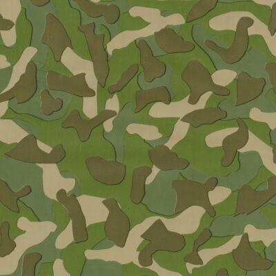 Zöld terepminta öntapadós tapéta