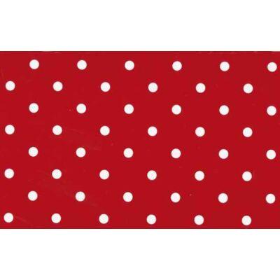 Pöttyös piros öntapadós fólia
