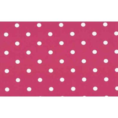 Rózsaszín pöttyös öntapadós fólia