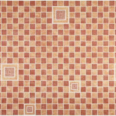 Barna mozaikmintás csempehelyettesítő tapéta