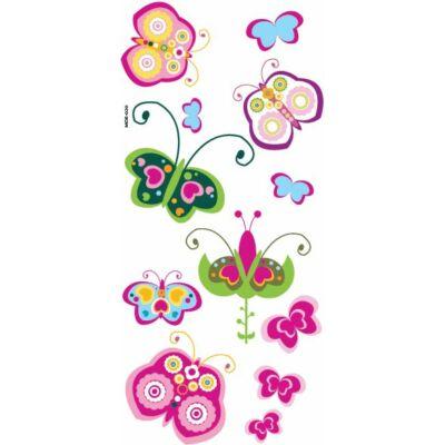 Színes falmatrica – Pillangók