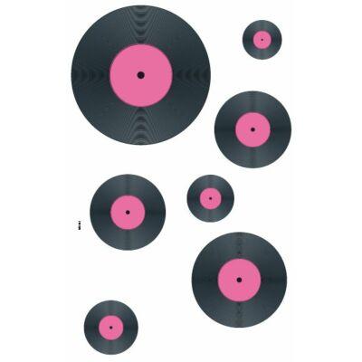 Színes falmatrica – Bakelit lemezek