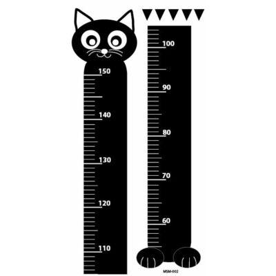 Magasságmérő gyerekeknek - Fekete cica