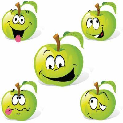Zöld almák csempematrica