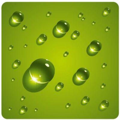 Zöld vízcseppek csempematrica